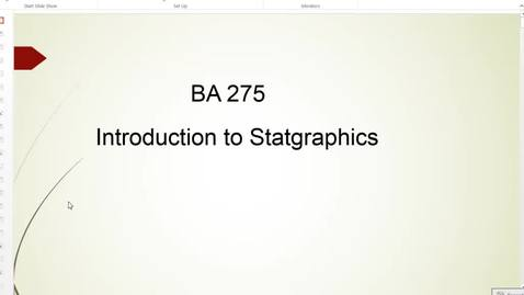 Thumbnail for entry Intro to Statgraphics_revised