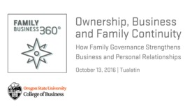 Thumbnail for entry Ownership, Family and Business Continuity: How Family Governance Strengthens Business and Personal Relationships