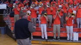 Thumbnail for entry OSU Pep Band and Felicia Ragland film, circa 2001