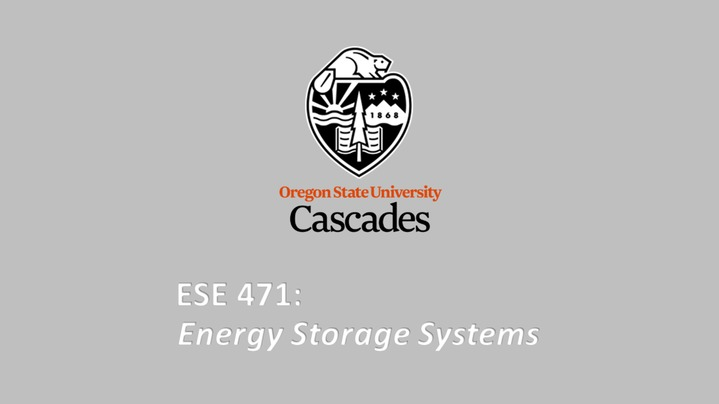 Thumbnail for channel ESE 471 - Energy Storage Systems