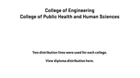 Thumbnail for entry 150th Annual Oregon State University Commencement (2019) - Distribution of Diplomas (Engineering, Public Health)