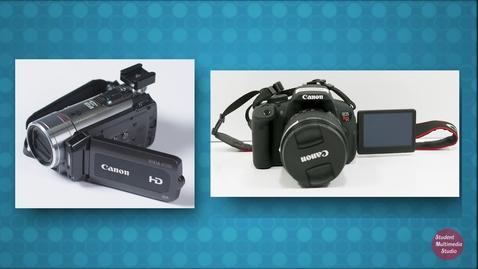 Thumbnail for entry Camcorder vs DSLR Cameras