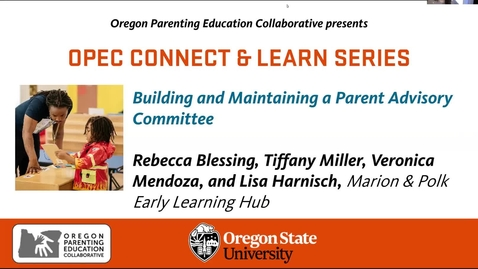 Thumbnail for entry Building and Maintaining a Parent Advisory Committee