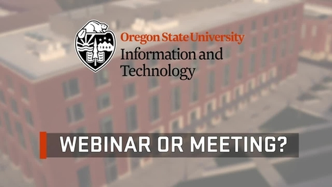 Thumbnail for entry Zoom: Webinar or Meeting?