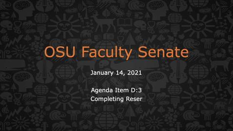 Thumbnail for entry 2021-01-14 FacSen D-3 Reser