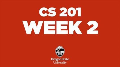 Thumbnail for entry CS 201 Week 2 (Winter 2021)