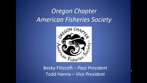 Thumbnail for entry Intro to The American Fisheries Society - F&W CLUB
