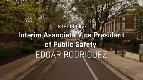 Thumbnail for entry Introducing Edgar Rodriguez, Interim Vice President of Public Safety