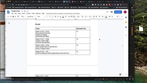 Thumbnail for entry Week 5 Progress Report