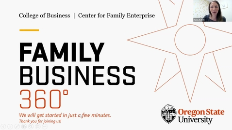 Thumbnail for entry Family Business 360- Transitioning G2 to G3 and Establishing Governance to Support Success