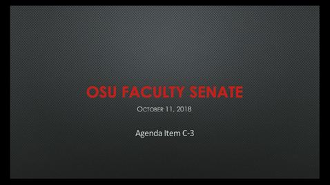 Thumbnail for entry 2018-10-11 Faculty Senate C3