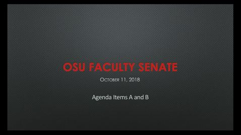 Thumbnail for entry 2018-10-11 Faculty Senate A-B