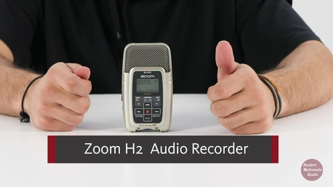 Thumbnail for entry Zoom H2 Audio Recorder Tutorial