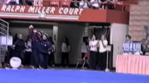 Thumbnail for entry University of Arizona vs. Oregon State University gymnastics, February 13, 1998