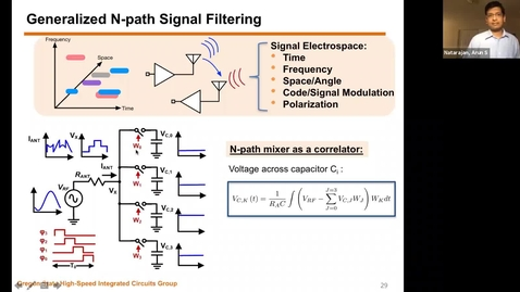 Thumbnail for entry Tech Talk Tuesday: Interferer-tolerant RF/Millimeter-Wave Receivers in the Age of Ubiquitous Wireless