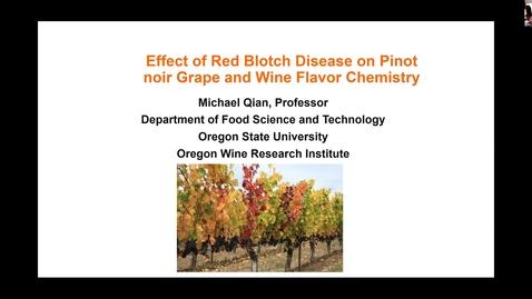 Thumbnail for entry Grape Red Blotch Disease Webinar - Dr. Michael Qian