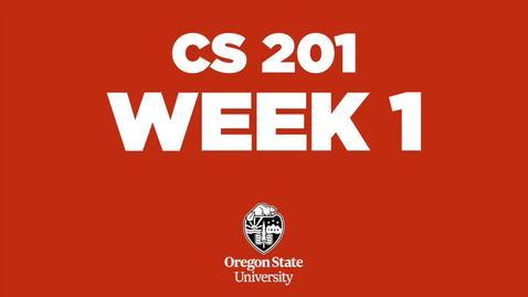 Thumbnail for entry CS 201 Week 1  (Winter 2021)