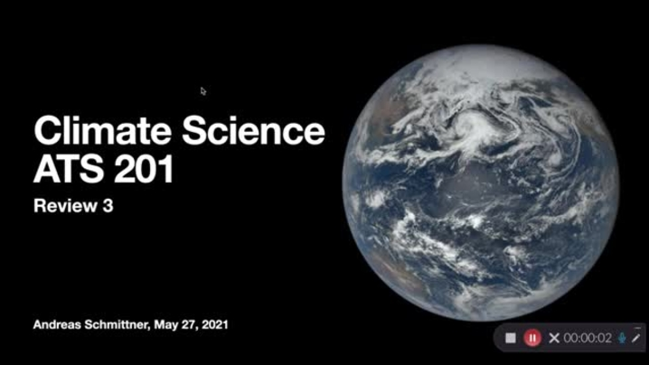 Thumbnail for channel Climate Science (ATS 201 Spring 2021)