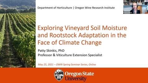 Thumbnail for entry Grape Day Webinar 2021: Dr. Patty Skinkis, OSU