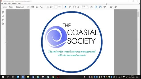 Thumbnail for entry The Coastal Society Intro - F&W Club 2020 - 10-5-2020