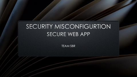 Thumbnail for entry Security Misconfiguration (Secure)