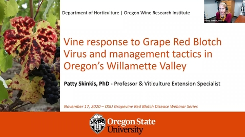 Thumbnail for entry Grape Red Blotch Disease Webinar - Dr. Patty Skinkis