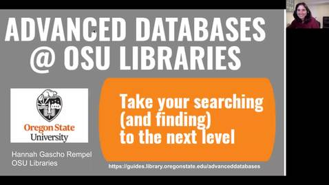 Thumbnail for entry Advanced Library Database Skills for Advanced Users - New Grad Student Orientation 2020