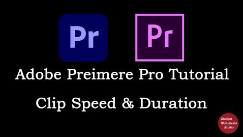 Thumbnail for entry Premiere Pro CS6 & CC: 24 Clip Speed & Duration