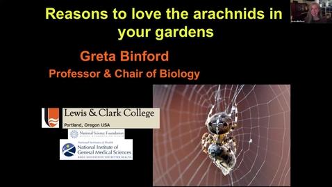 Thumbnail for entry Reasons to love the arachnids in your gardens * - Washington County Master Gardener Association's Speaker Series - October 2021