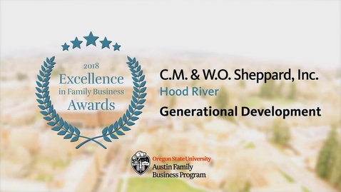 Thumbnail for entry C.M. & W.O. Sheppard, Inc. - 2018 Excellence in Family Business Awards