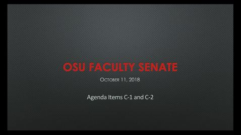 Thumbnail for entry 2018-10-11 Faculty Senate C1-2