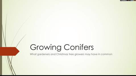 Thumbnail for entry Growing Conifers: What Gardeners and Christmas Tree Growers Have in Common - Washington Co. Master Gardener Speaker Series -
