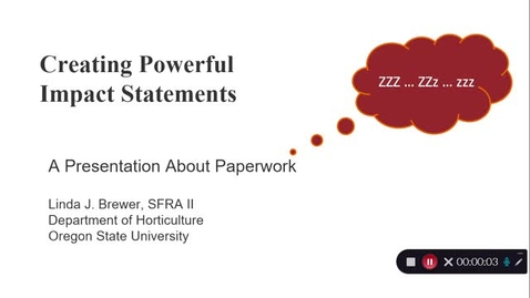 Thumbnail for entry Creating Powerful Impact Statements - April 8th 2021, 1:01:49 pm