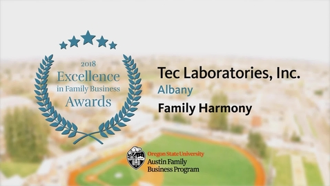 Thumbnail for entry Tec Laboratories, Inc. - 2018 Excellence in Family Business Awards