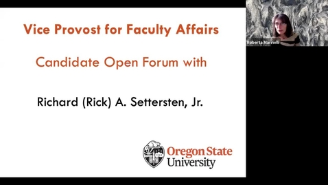 Thumbnail for entry Rick Settersten, Candidate for Vice Provost for Faculty Affairs: University Forum
