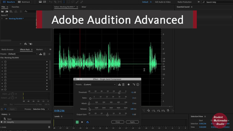Thumbnail for entry Audition Advanced