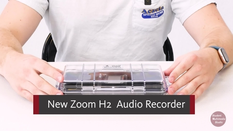 Thumbnail for entry New Zoom H2 Audio Recorder tutorial