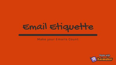 Thumbnail for entry Email Etiquette