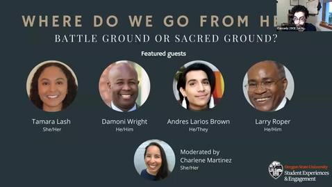 Thumbnail for entry Where Do We Go From Here: Battle Ground or Sacred Ground? Panel, November 5, 2020