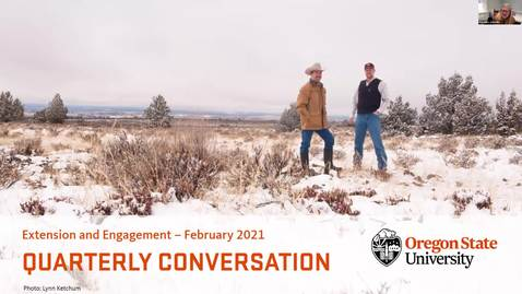 Thumbnail for entry Extension and Engagement Quarterly Conversation February 19, 2021