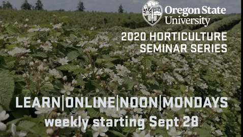 Thumbnail for entry Fall 2020 Hortseminar Video (1)