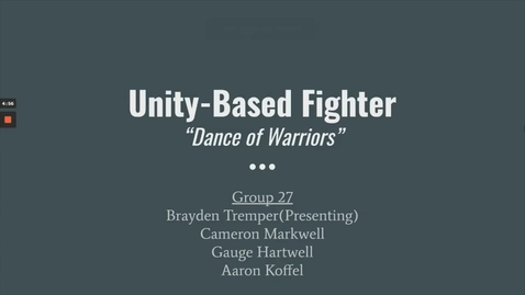 Thumbnail for entry UnityBasedFighter_Group27_Tremper