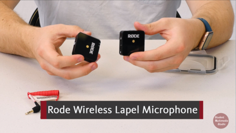 Thumbnail for entry Rode Wireless Microphone tutorial