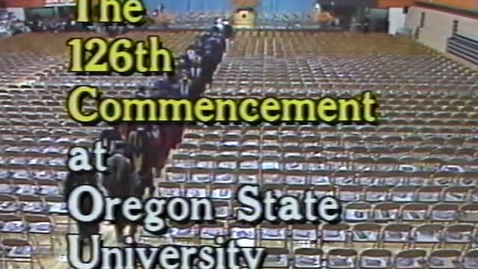 Thumbnail for entry OSU Commencement, 1995
