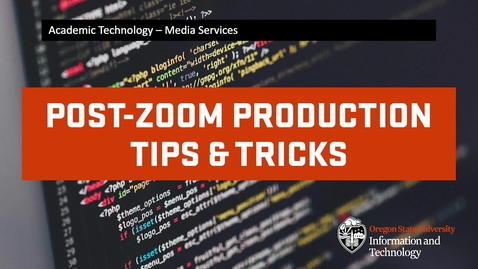 Thumbnail for entry Zoom: Recordings - Tips & Tricks