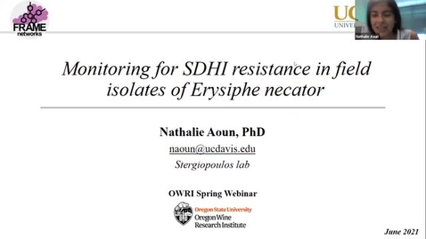 Thumbnail for entry Grape Day Webinar 2021: Dr. Nathalie Aoun, UC Davis