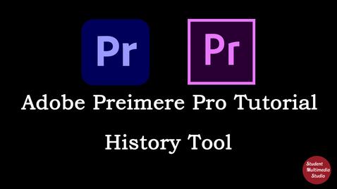 Thumbnail for entry Premiere Pro CS6 & CC: 19 History Tab