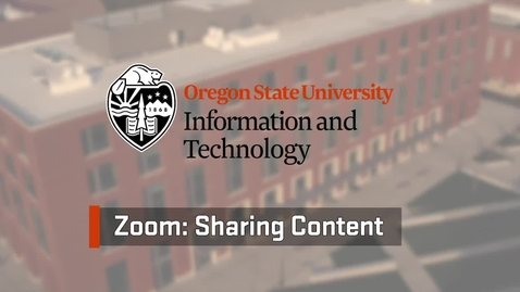 Thumbnail for entry Zoom: Sharing Content
