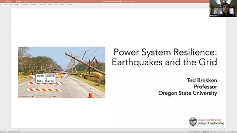 Thumbnail for entry Power System Resilience: Earthquakes and the Grid