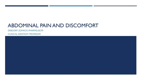 Thumbnail for entry Abdominal Pain and Discomfort 2021